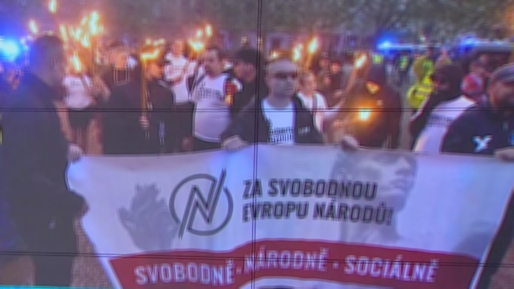 Podvečerní prvo-májový pochod ulicemi Brna, květen 2019