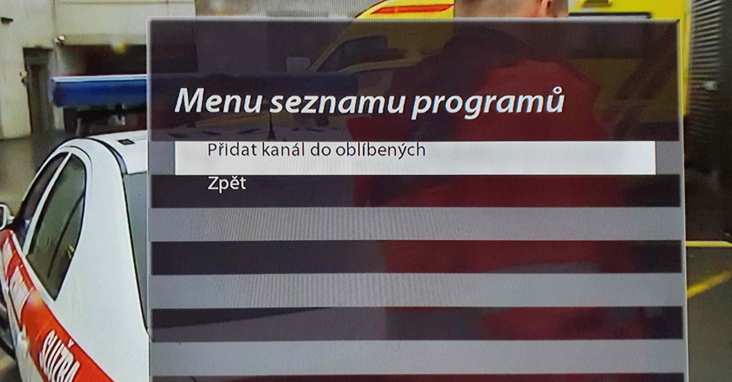 Přidání TV program do oblíbených na set top boxu VU+ Zero 4K