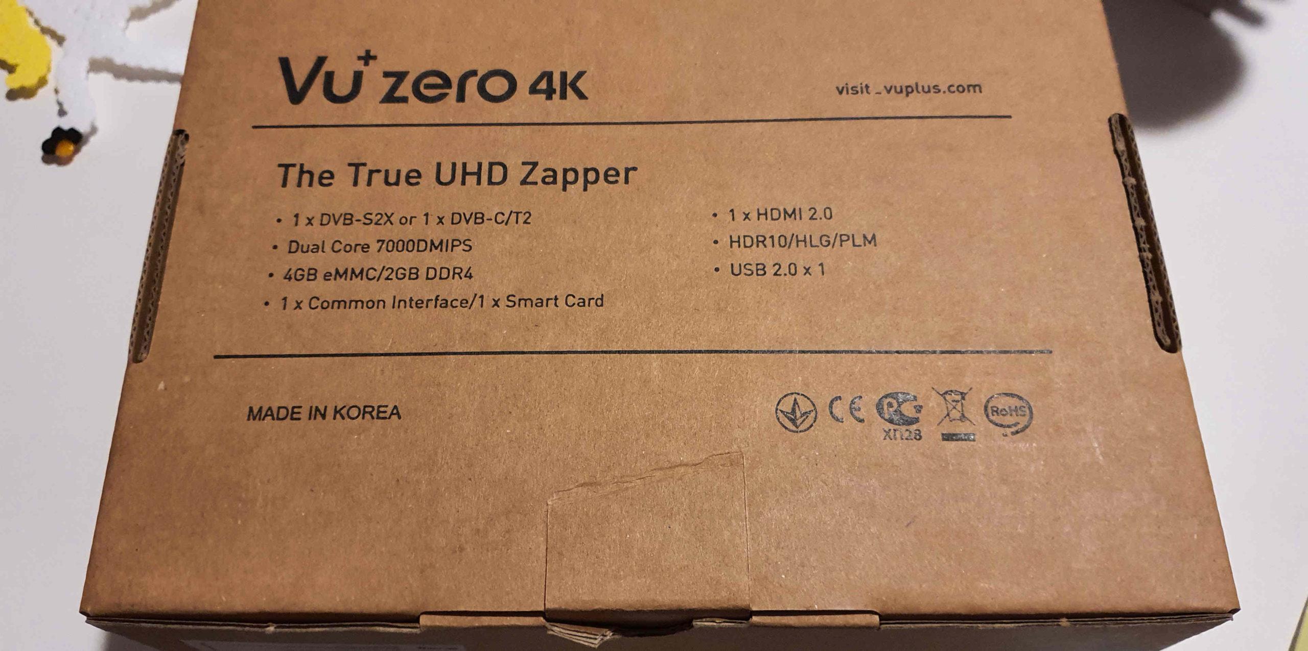 Krabice s VU+ Zero 4K