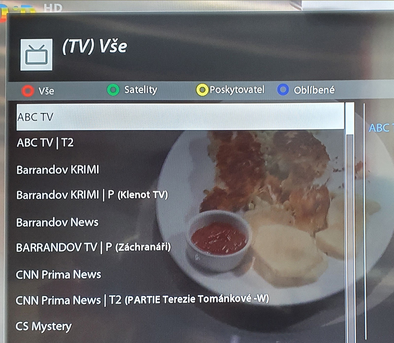 menu VU Plus 4K