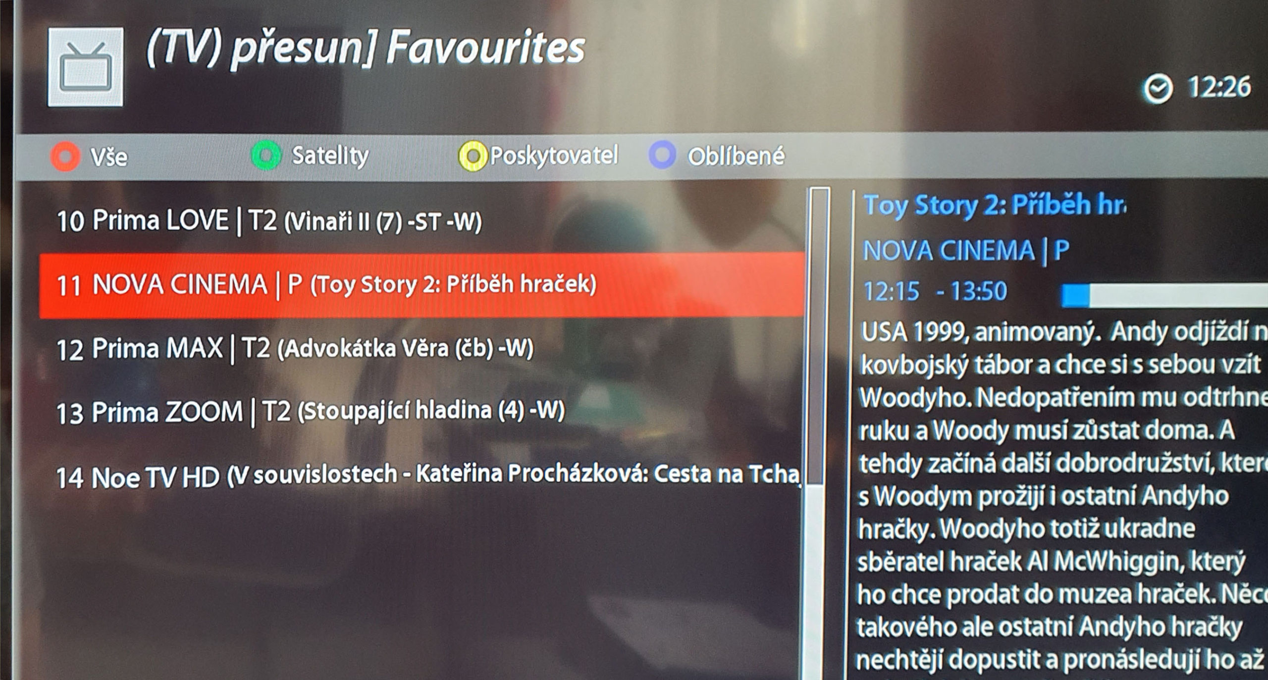 Obrazovka VU Plus 4K